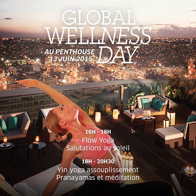 globalwellnessday omyogacasablanca saturday 13 juin yoga on the roof Joinhellip