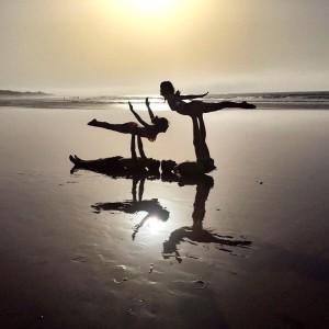 partneryoga acroyoga omyogacasablanca om namaste beach love fun