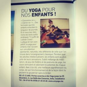 yoga yogaforkids yogaenfants morocco casablanca 2015 press nafs magazine omyogacasablancahellip