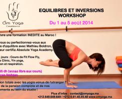 Workshop de l'été – équilibres & inversions –